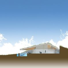 Elevation, Edgeland Residence on the Colorado River by Bercy Chen Studio