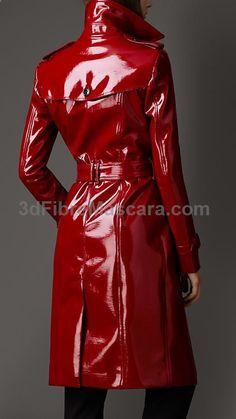 Long Patent-Finish Trench Coat | Burberry #latex #sexy #ladies #women #latexskirt #latexdominate #latexboss #shiny #fashion #latexshopping #buylatex #skirts