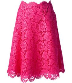 Valentino Floral Lace A-line Skirt>>> TO DIE FOR!!!