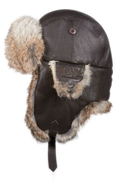 Woolrich Leather Aviator Cap available at #Nordstrom