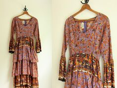 1970s Dress  Maxi Dress  Prairie Dress  Folk by AllengroveVintage, $185.00