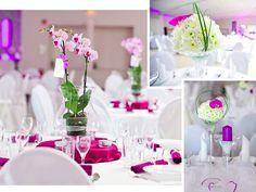 Tischdeko Hochzeit - runder Tisch
