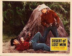 "DESERT OF LOST MEN (1951) - Allan ""Rocky"" Lane & his stallion, ""Black Jack"" - Eddy Waller - Directed by Harry Keller - Republic Pictures - Movie  Poster"