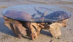 $2000Beautiful driftwood art, driftwood table furniture and log cabin coffee tables by artisan Carl Woodland.
