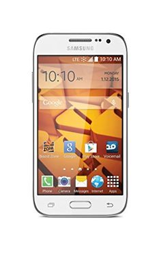 Samsung Galaxy Prevail LTE White (Boost Mobile) Samsung  Android 4.4.4 Kit Kat OS Spark LTE 5MP Camera