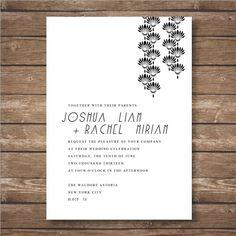 Printable Art Deco Wedding Invitation Suite by Ravenandrook