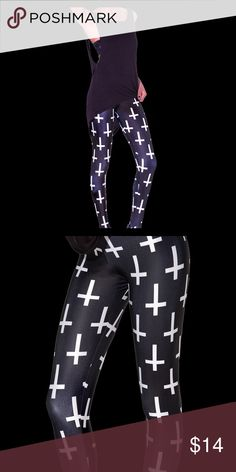 St Peters Cross Leggings Black, size small. Only worn once. I wear a medium so it doesn't fit me well, looking to sell. The crosses are smaller on this than in the pics. Pants Leggings