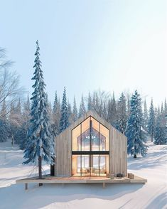 New chalets with Scandinavian inspirations in the suburbs of Quebec – Idées pour chalet - architecture house Perspective Architecture, Architecture Design Concept, Architecture Résidentielle, Chalet Design, Cabin Design, Style At Home, Modern Exterior, Exterior Design, Exterior Siding