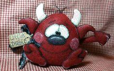 Little Diablo Devil Pattern #188 - Primitive Doll Pattern