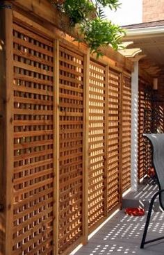 Awesome DIY Outdoor Privacy Screen Ideas with Picture Outdoor privacy screens for decks Backyard Privacy Screen, Outdoor Privacy, Privacy Walls, Backyard Patio, Privacy Screens, Backyard Ideas, Patio Ideas, Landscaping Ideas, Fence Ideas