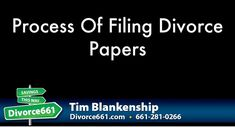 """Process Of Filing Divorce Papers 