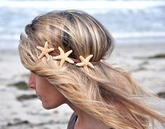 Add a starfish headband to your mermaid costume.