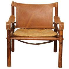 Arne Norell Safari Leather Chair