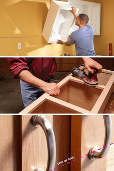Learn everything there is to know about cabinets - building, repairing, installing, and updating them. http://www.familyhandyman.com/kitchen/diy-kitchen-cabinets