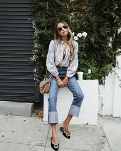 "Shop Sincerely Jules on Instagram: ""Outfit of the day in our Steffi blouse x Demi jeans. ❤️ 