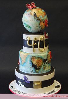 40th Globe Birthday Cake