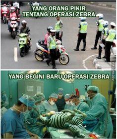 5 meme lucu operasi zebra ini bikin ketawa Ngakak