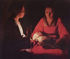 The newborn Christ (1645-1648) van Georges de la Tour. (foto: Wikimedia)