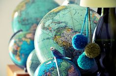 ⇚ Map Quest ⇛ maps & globes in history, art, craft & decor - globe vignette
