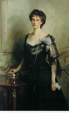 age: Lady Evelyn Cavendish Artist: John Singer Sargent Completion Date: 1902 Style: Realism Genre: portrait Technique: oil Material: canvas Dimensions: 147.9 x 96.8 cm Gallery: Chatsworth House, Derbyshire, UK