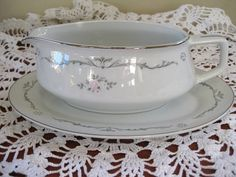 Petite Bouquet China Gravy Boat and by ChinaGalore on Etsy, $18.00
