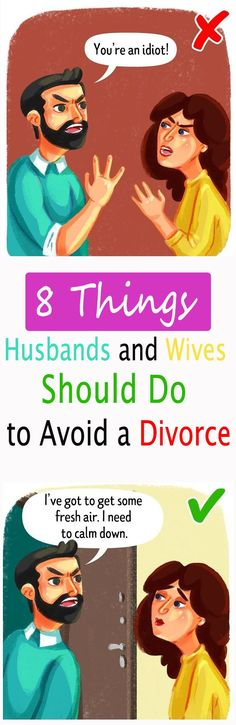 8 Things Husbands and Wives Should Do to Avoid a Divorce | Morning Style #couple #divorce #happy #love