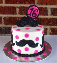 Mustache birthday cake for 11 year old girl | DIY