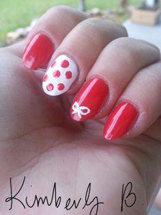 Red, polka dots, bow