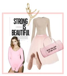 Strong is beautiful by sarks on Polyvore featuring polyvore, fashion, style, Fete Champetre, Ballet Beautiful, Balmain, ban.do, Rembrandt Charms, Porselli, clothing and ballet