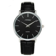 Ultra Thin Two-Hand Quartz Watch w/ Leather Band - Fresh Shade Modern Watches, Casual Watches, Luxury Watches, Simple Watches, Elegant Watches, Nice Watches, Army Watches, Seiko Watches, Watches For Men