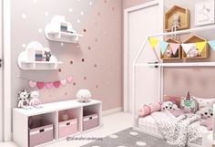 Ikea hack for a toddler bunk bed - KURA plus TROFAST - super cool idea!, Ikea hack for a toddler bunk bed - KURA plus TROFAST - super cool idea! Save this for my children! Toddler Bunk Beds, Toddler Rooms, Toddler Girl, Kids Bedroom Ideas For Girls Toddler, Baby Girl Room Decor, Baby Bedroom, Master Bedroom, Baby Zimmer Ikea, Pink Bedrooms