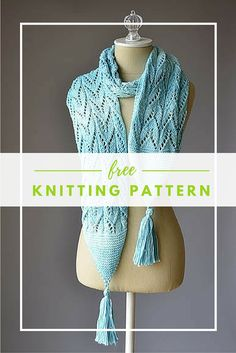 Knitted Scarf Pattern With Pointed Ends : 1000+ images about Knit Adult shawls, scarfs, snoods,cowls on Pinterest Pat...