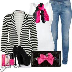 Pink, black & WHITE