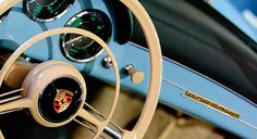 Images of Steering Wheels by Jill Reger - Steering Wheel Images -    1958 Porsche 356 A Speedster Steering Wheel Emblem