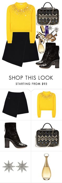 """""""Embelished Sweater"""" by oshint ❤ liked on Polyvore featuring MARC CAIN, Miu Miu, Isabel Marant, Bee Goddess and Christian Dior"""