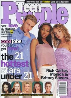 Britney's first appearance on the cover of Teen People.