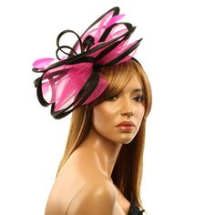 Feathers 3 Tier Layer 2 Tone Headband Fascinator Millinery Cocktail Hat  Fuchsia at Amazon Women s Clothing store  Novelty Headwraps Headwear a2da15d7083c