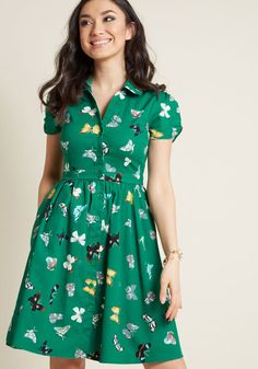Summer School Cool Shirt Dress in Butterflies shape not pattern