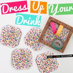 Introducing new DENY Coaster Sets! 4 artsy coasters and a perfectly sized bamboo holder to match! Get them for yourself or give as a gift in any of our 5,000+ designs!