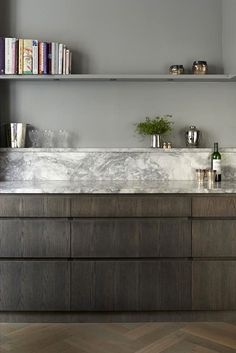 shelf for kitchen? // marble and timber - hyde park apartment | de rosee sa | cottage: cook t | Hyde Park, Apartments and London Apartment