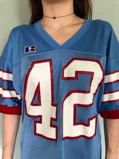 Retro Houston Oilers Jersey Dress Medium by BeggarsBanquet on Etsy Houston  Oilers a5348ec3d
