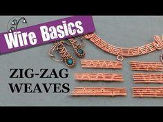 Wireweaving Basics: Zig-Zag Weaves - YouTube