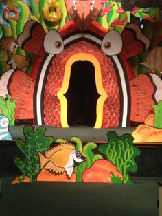 The Center of the stage, with the mouth of the Clown Fish that you can walk in and out of. Ocean Commotion 2015, 5th.