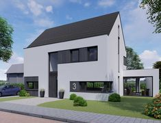 Moderne schuurwoning Veenendaal | The Citadel Company Beautiful Architecture, Garage Doors, Villa, Mansions, House Styles, Outdoor Decor, Home Decor, Home, Build House