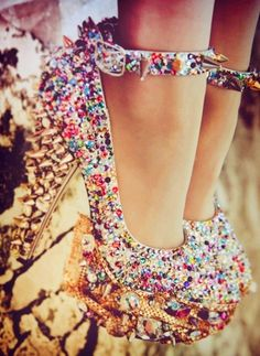 Luxe Diamond High Heels