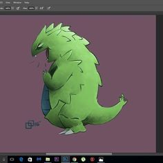 Tyranitar!!! #illustration #art #painting #digital #photoshop #pokemon #nintendo #artwork #cube #videogame #anime #character #design #fanart