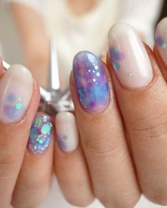 A watercolor-inspired mani.