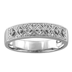 Perfect Bridesmaid Gifts - Silver Diamond Ring