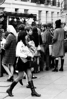 Swinging London. Kings Road, Chelsea, London in 1968
