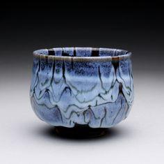 Chawan with tenmoku and chun glazes.